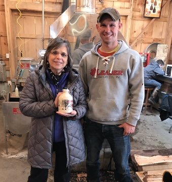 March 23, 2019 – In celebration of NYS Maple Weekend, Assemblywoman Lupardo visits Split Maple Farm in Lisle.
