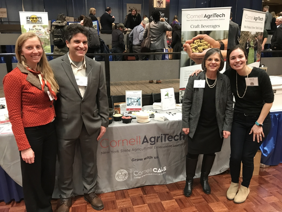 March 4, 2019 – Assemblywoman Lupardo stops by Cornell AgriTech's booth at the annual Taste of NY event in Albany.