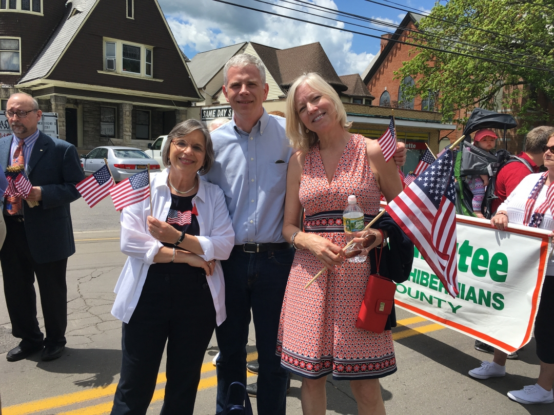 May 27, 2019 – Assemblywoman Lupardo marches in the Broome County Memorial Day Parade with County Executive Jason Garnar and County Legislator Suzy Ryan.