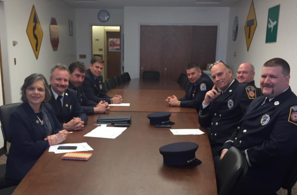 May 15, 2019 – Assemblywoman Lupardo meets with Broome County firefighters during their annual visit to Albany.