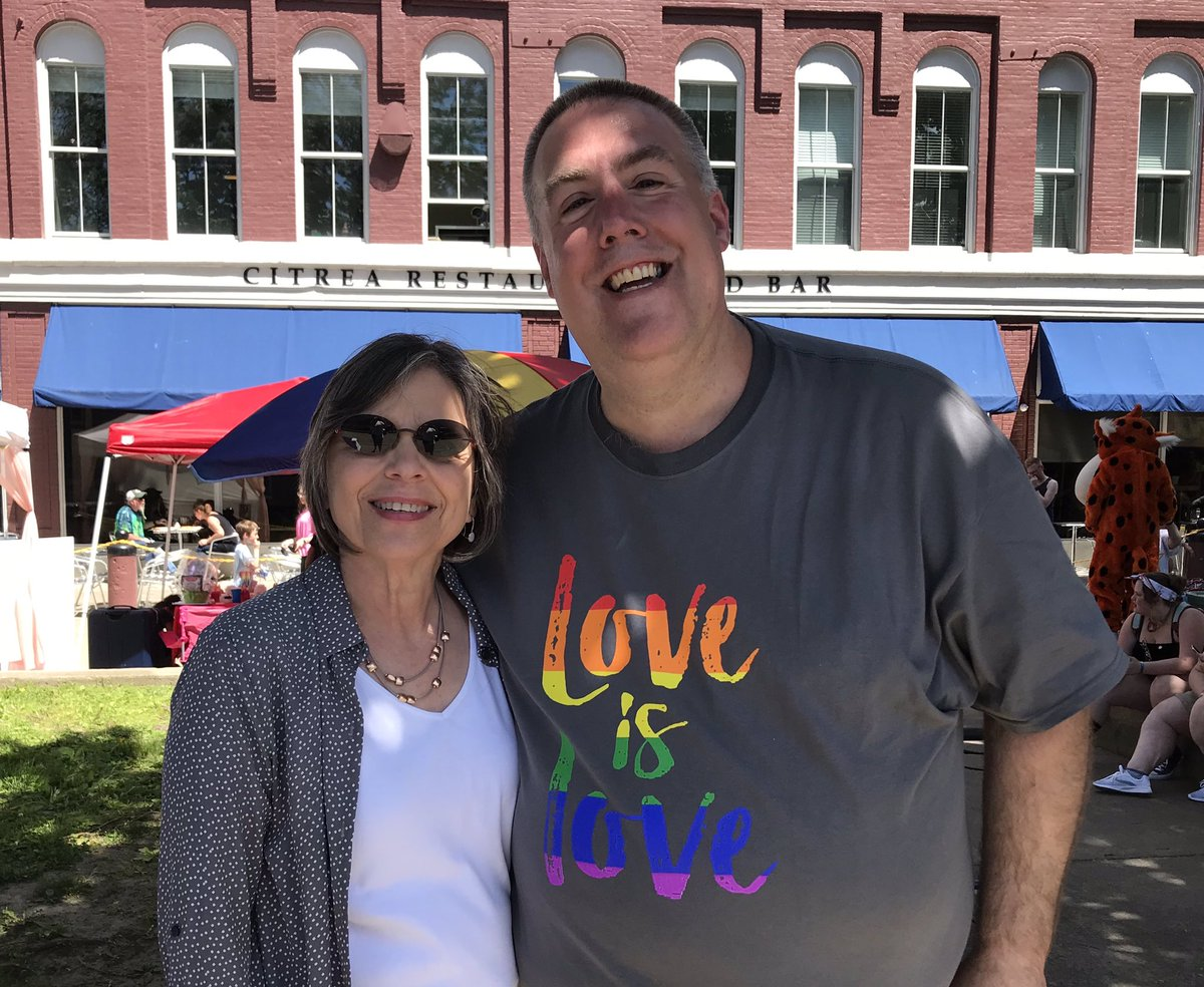 June 8, 2019 – Chris Waters from the Binghamton Pride Coalition and Assemblywoman Lupardo at Binghamton Pride Palooza.