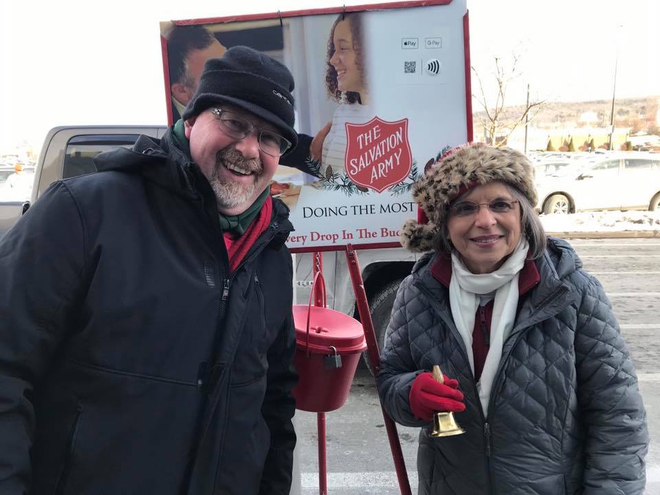 December 21, 2019 – Assemblywoman Lupardo helps Chet Schultz ring the bell in Vestal as part of the Salvation Army's 24-Hour Red Kettle Challenge.