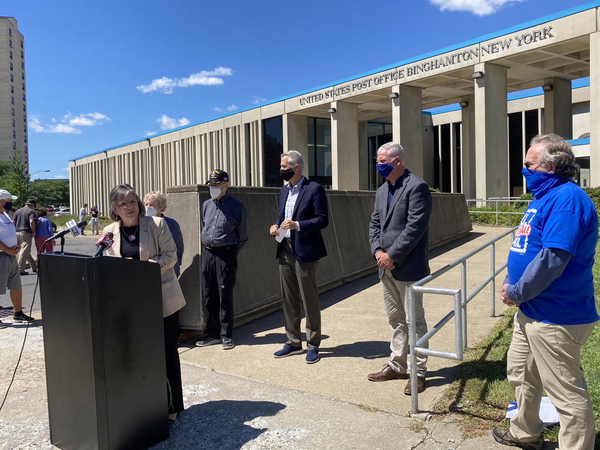 August 20, 2020 – Assemblywoman Lupardo joins Congressman Anthony Brindisi to speak out in support of the USPS at the Binghamton Post Office.