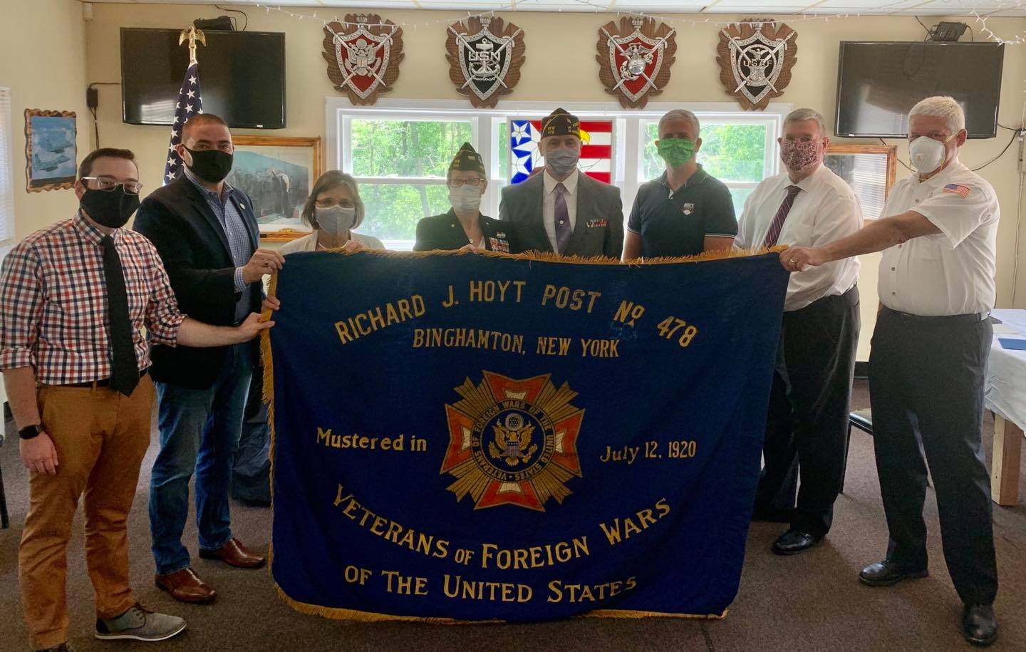 July 12, 2020 – Assemblywoman Lupardo helps celebrate the 100th anniversary of VFW Post 478 in Binghamton.