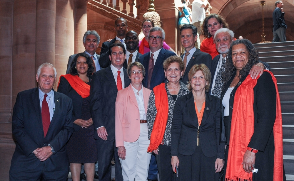 Assemblyman Stirpe wore orange with his Assembly colleagues to raise awareness for the gun violence faced by our communities.