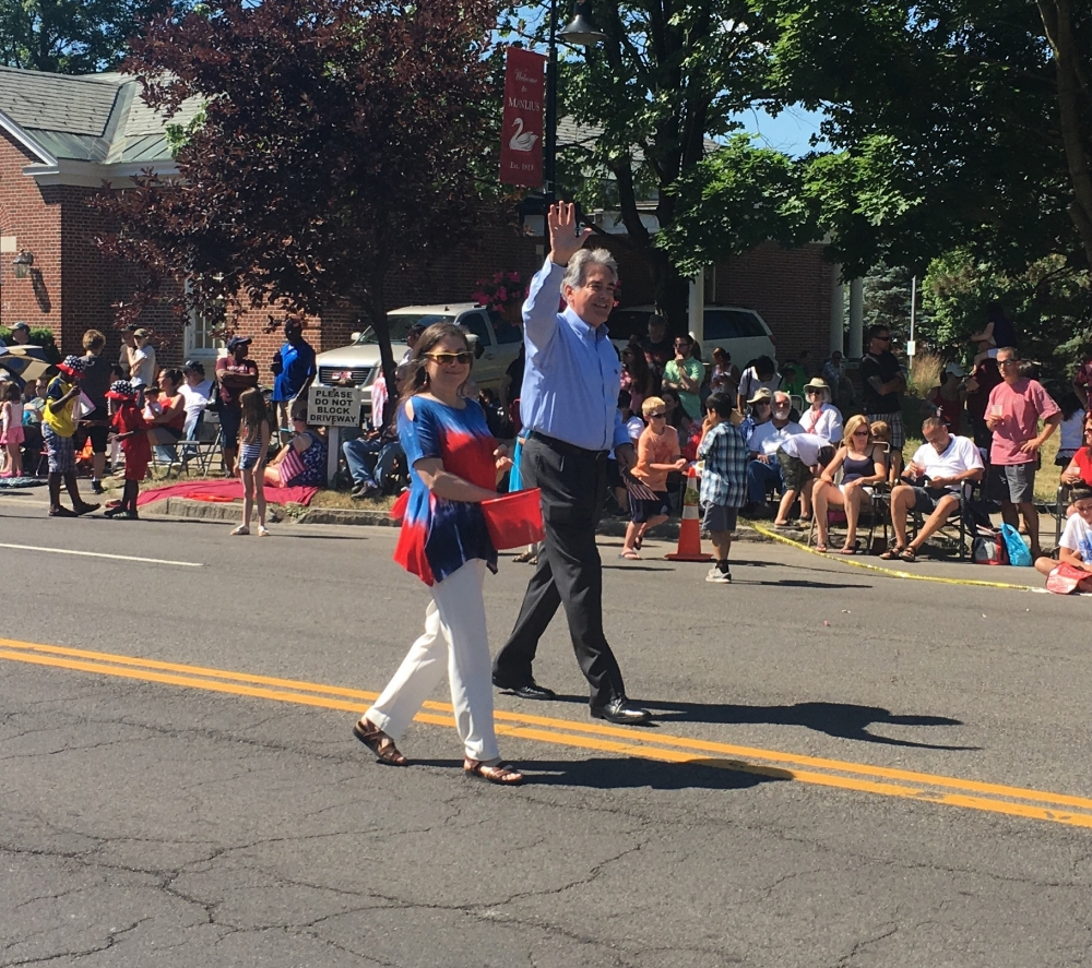 Assemblyman Stirpe walks with his wife, Chele, during the Village of Manlius 4th of July Parade. Manlius is one of the 6 towns in the 127th Assembly District Al represents.