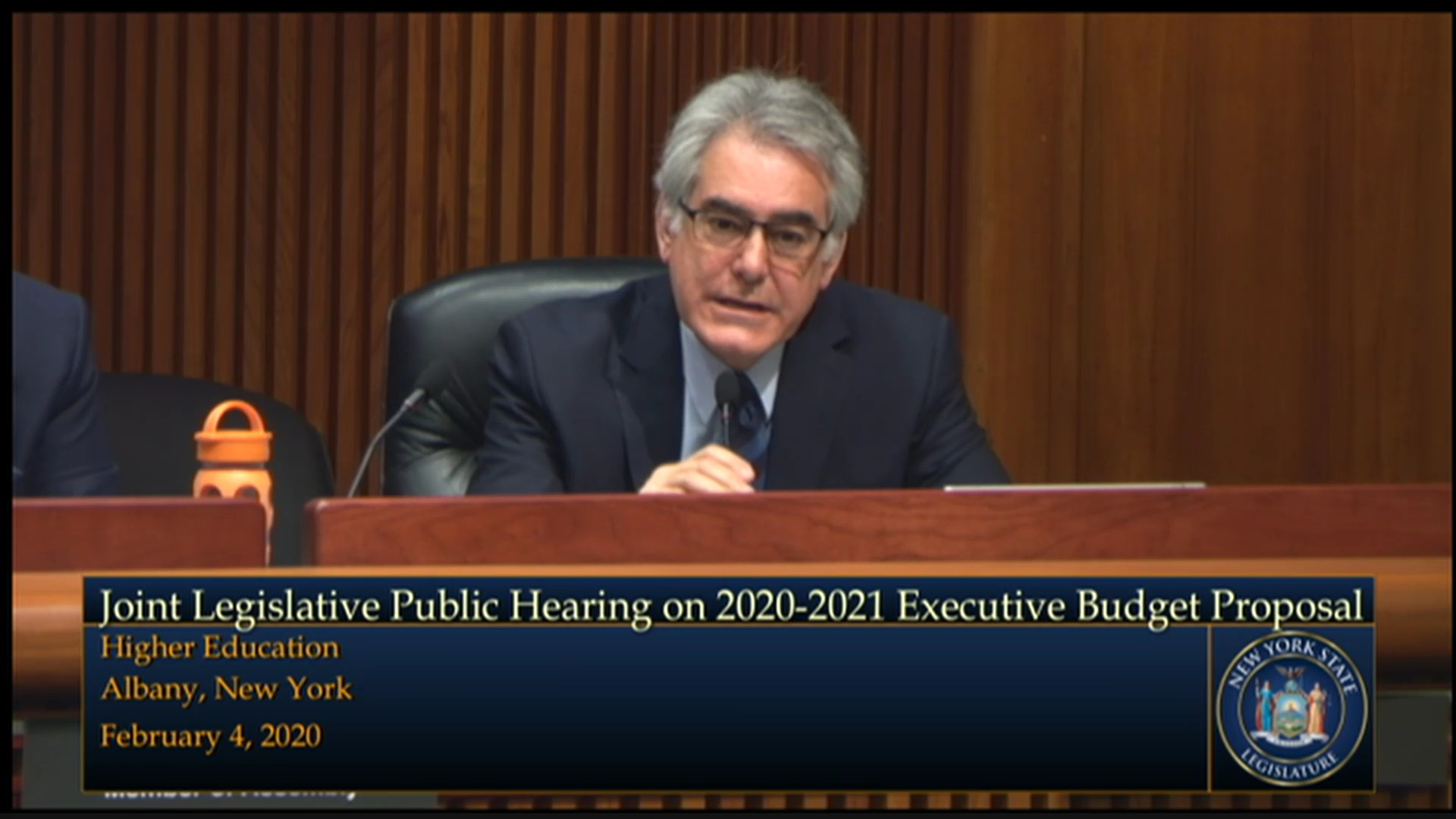 2020 Joint Budget Hearing on Higher Education