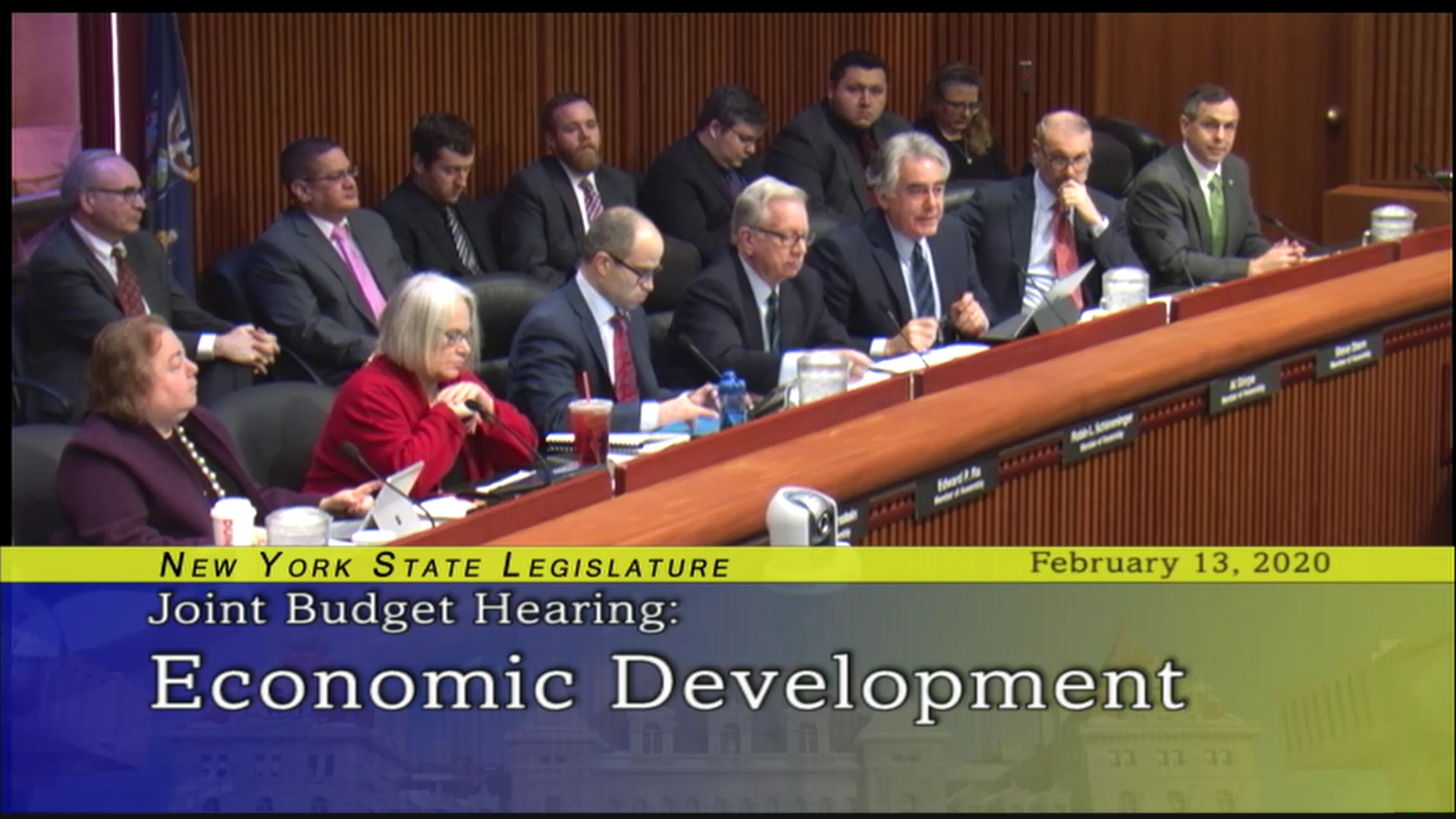 2020 Joint Budget Hearing on Economic Development