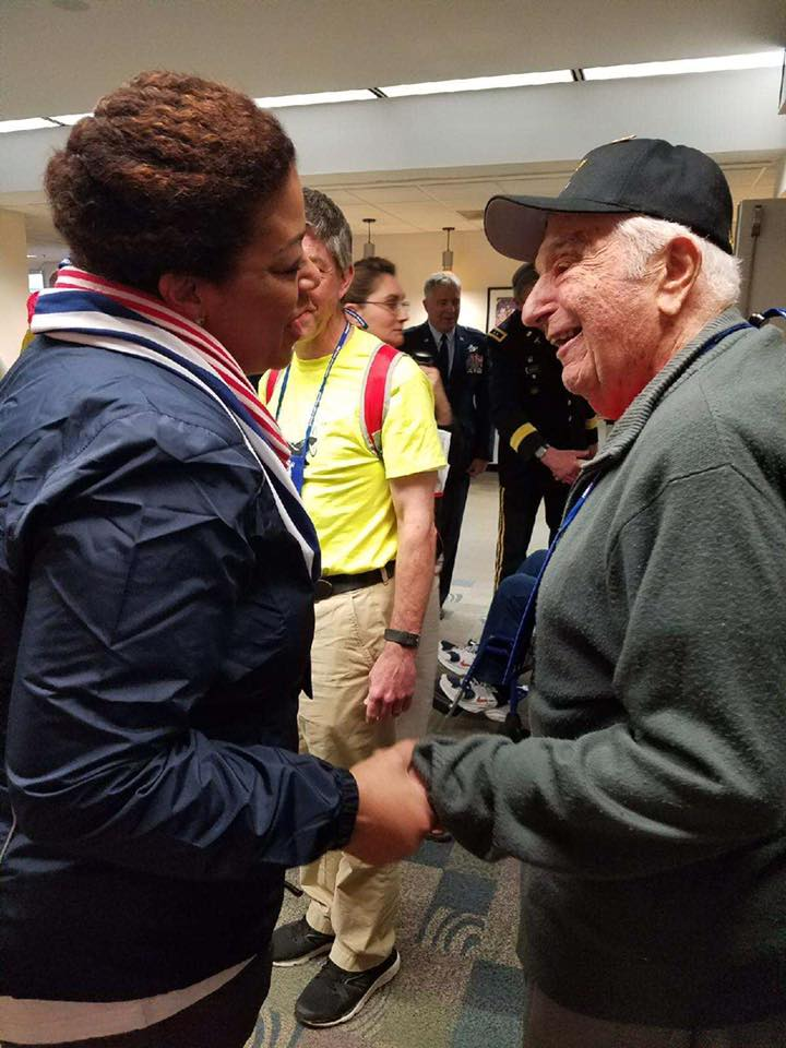 Assemblymember Hunter welcomed CNY's WWII and Korean War Veterans from the Honor Flight Mission 9.