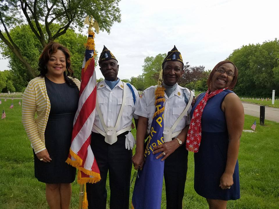 Assemblymember Hunter celebrating Memorial Day at the Onondaga County Veteran's Memorial Cemetery.
