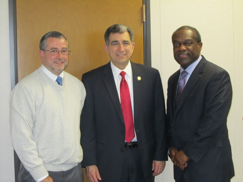 Assemblyman Bill Magnarelli met with Executive Director Bill Simmons and Assistant Director Dave Paccone of the Syracuse Housing Authority. They discussed a variety of issues affecting the Authority a