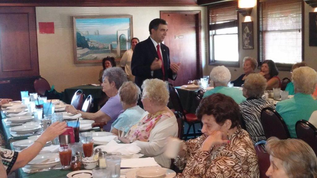 "Assemblyman Magnarelli was the featured guest at the Daughters of Columbus luncheon held in October. Over 50 women were present and enjoyed interacting with the Assemblyman. Many of the women knew the Magnarelli family and also enjoyed reminiscing about the ""old"" neighborhood.<br />"