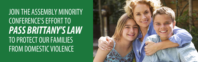 Join Assembly Minority Leader Brian M. Kolb's Effort To Pass Brittany's Law, Curb Domestic Violence