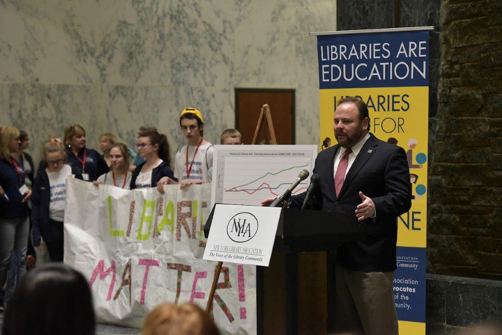 This week, Assemblyman Phil Palmesano (R,C,I-Corning) addressed officials representing local libraries and library systems across the state at a rally in the Capitol