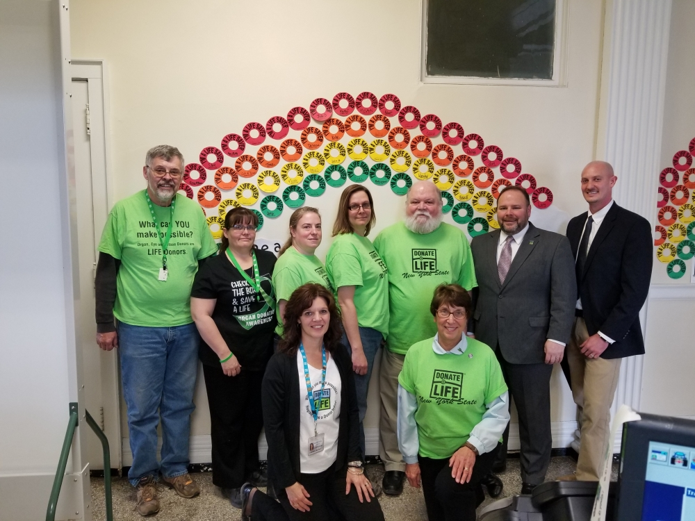 Palmesano, Steuben County leaders hold Donate Life press conference.<br />&nbsp;
