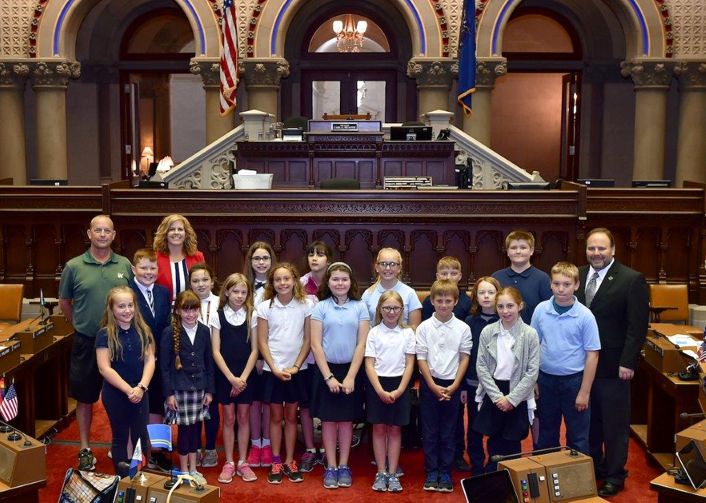 Palmesano Welcomes St. Michael School Fifth Graders from Penn Yan to Albany