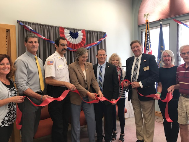 On Thursday, September 5, Assemblywoman Marjorie Byrnes (R,C-Caledonia) hosted an open house at her new satellite office in the City of Hornell. Kicking off the event with a ribbon-cutting, Byrnes was