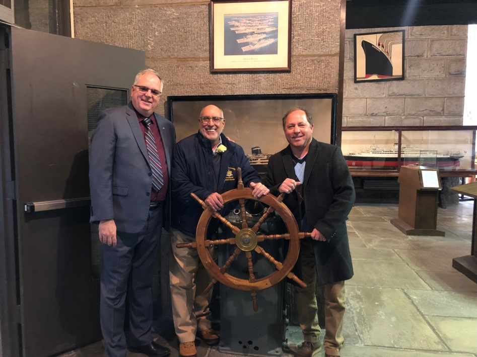 Assemblyman Hawley and Assemblyman Benedetto tour SUNY Maritime, one of only seven degree-granting maritime institutions in the country