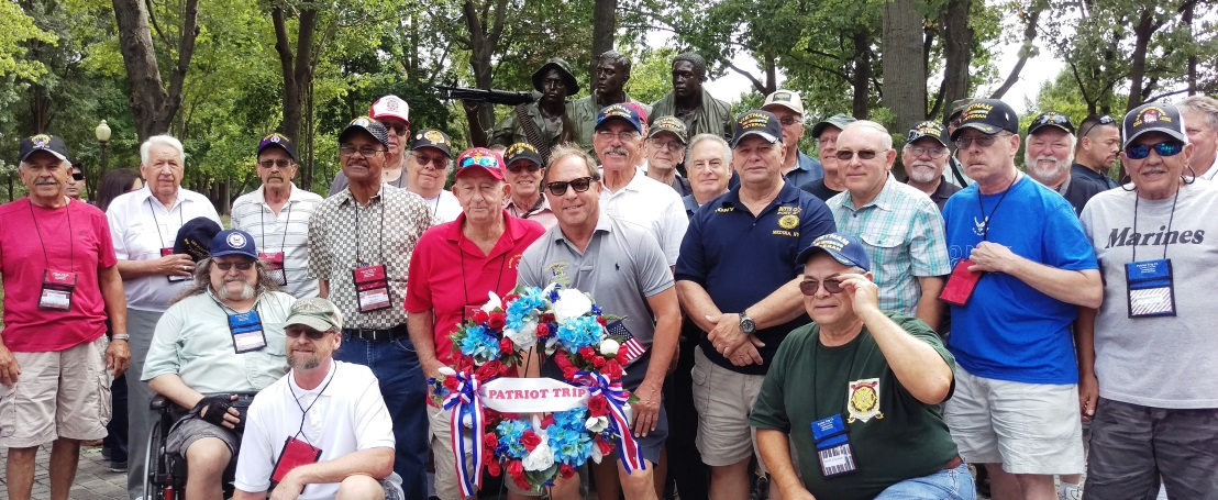 Assemblyman Steve Hawley (R,C,I-Batavia) [pictured center front] poses with a group of Vietnam veterans in Washington D.C. during a previous Patriot Trip.