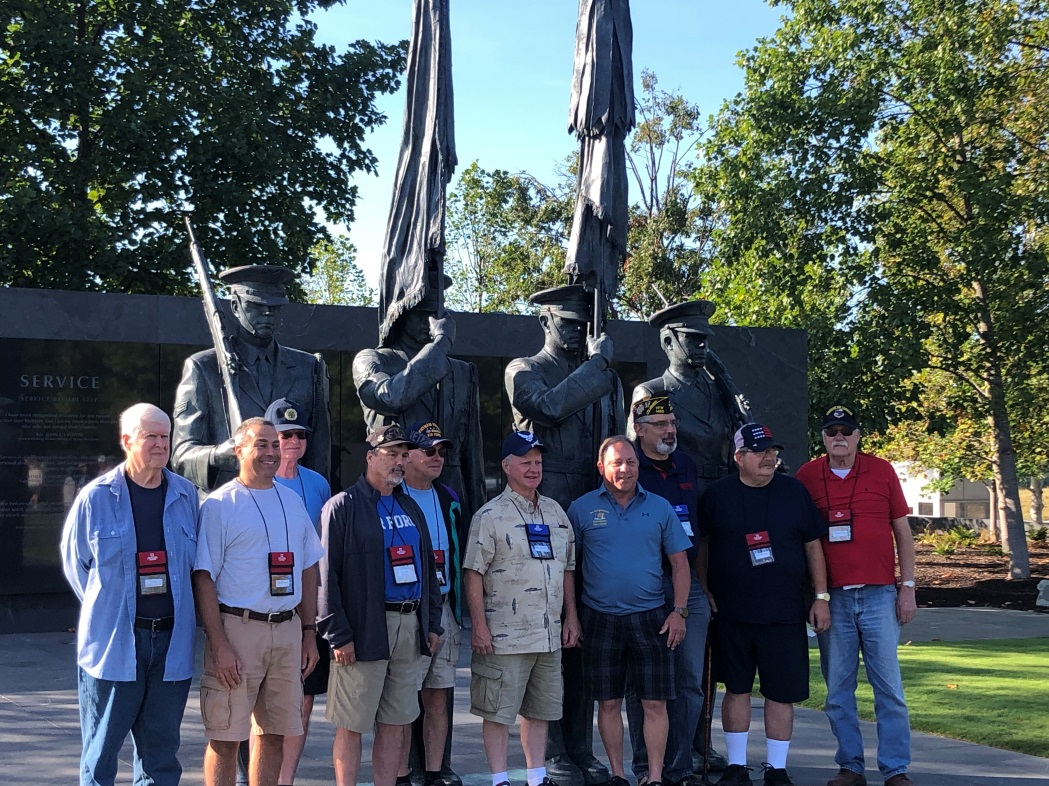 Assemblyman Hawley (R,C,I-Batavia) and local veterans at the Air Force Memorial in Arlington County, Virginia
