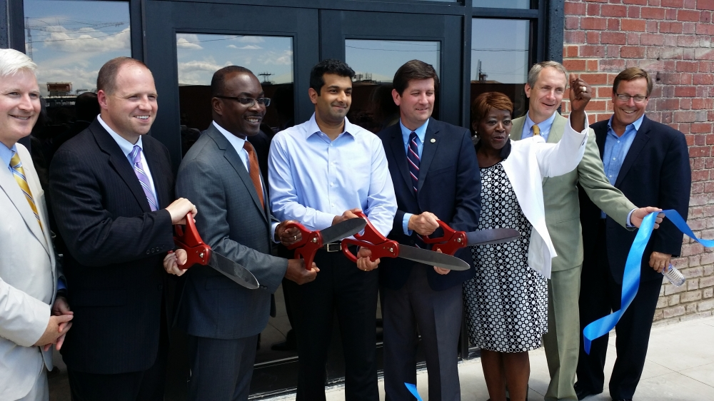 July 10, 2014 - Assemblywoman Peoples-Stokes at the Liazon ribbon cutting ceremony; part of Buffalo's growing Information Technology sector.
