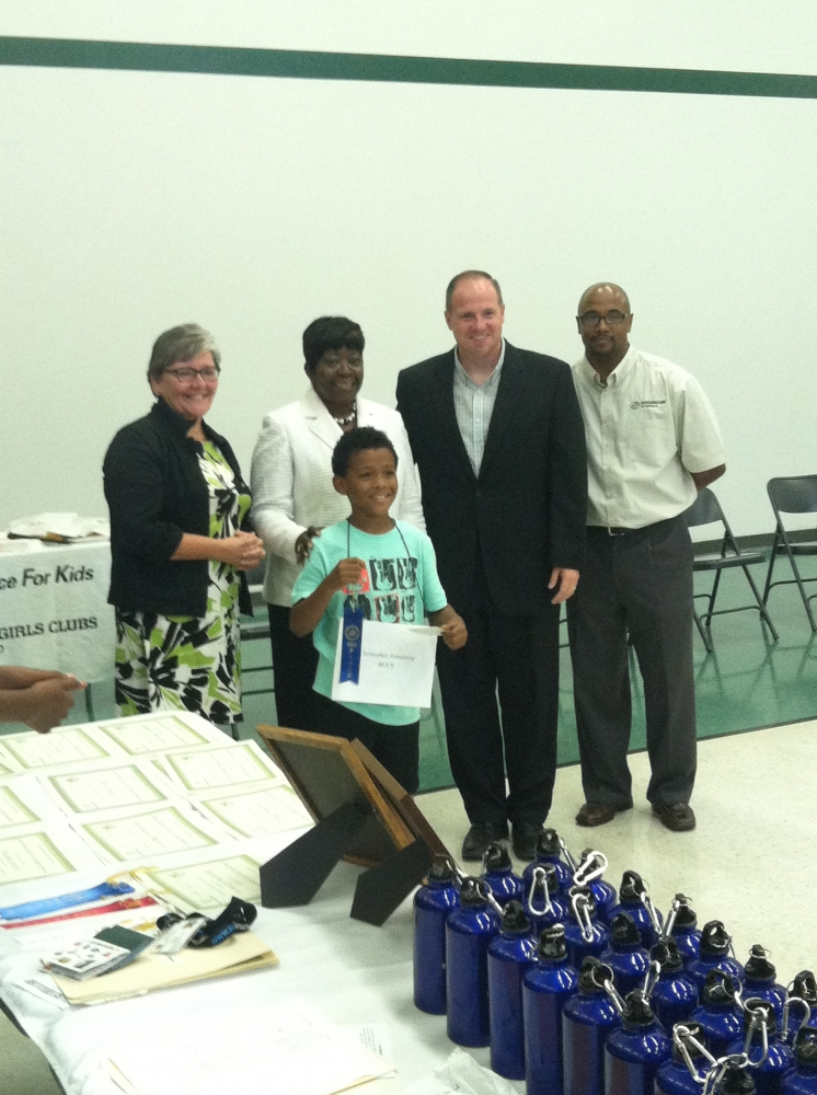 "Assemblywoman Crystal Peoples-Stokes and Senator Tim Kennedy attend the Buffalo Boys and Girls Club spelling bee. Also acknowledging the Campaign Kickoff for ""Great Futures."