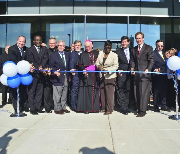 October 2nd 2014 – Assemblywoman Crystal Peoples-Stokes at the ribbon cutting for the Catholic Health Headquarters in downtown Buffalo.