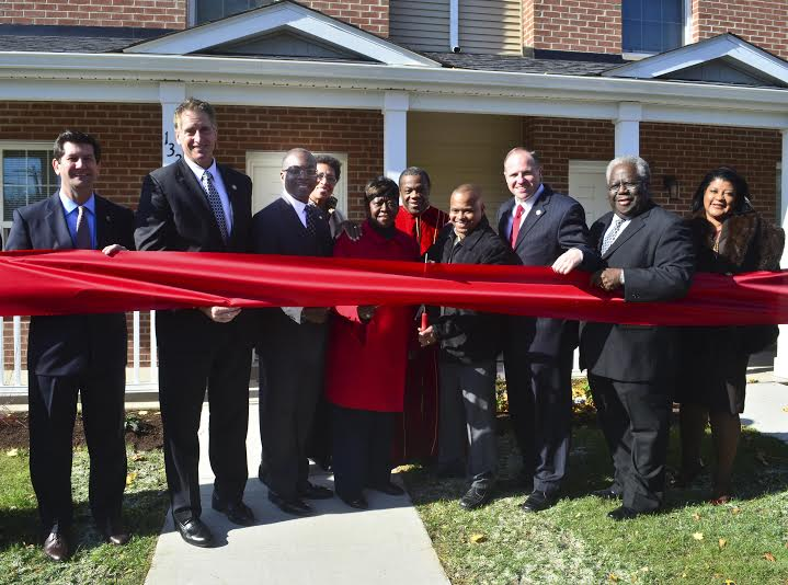 November 3, 2014 – Assemblywoman Crystal Peoples-Stokes at the ribbon cutting for new townhomes in the historic Fruit Belt neighborhood.
