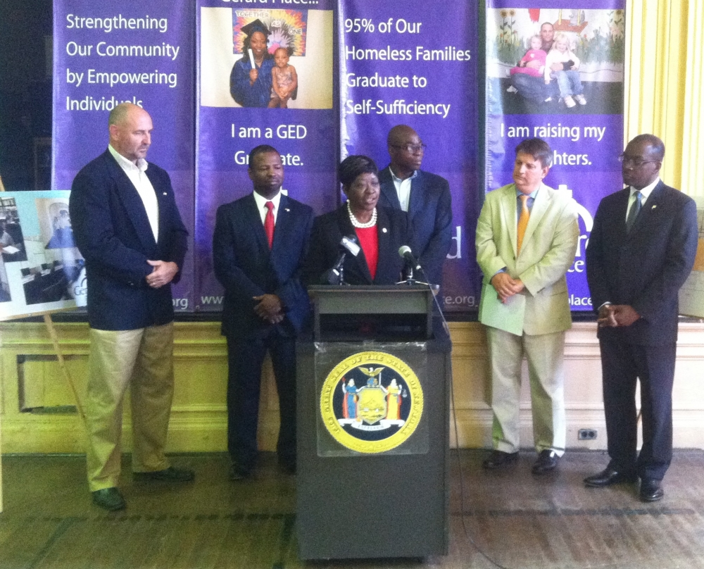 September 8, 2014 – Assemblywoman Crystal Peoples-Stokes announces $500,000 in capital funding for Bailey Avenue, $250,000 for Gerard Place and $250,000 for Streetscape Improvements.