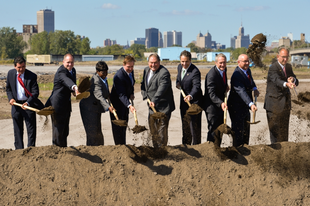 September 23, 2014 – Assemblywoman Crystal Peoples-Stokes at the groundbreaking for Riverbend site in South Buffalo.