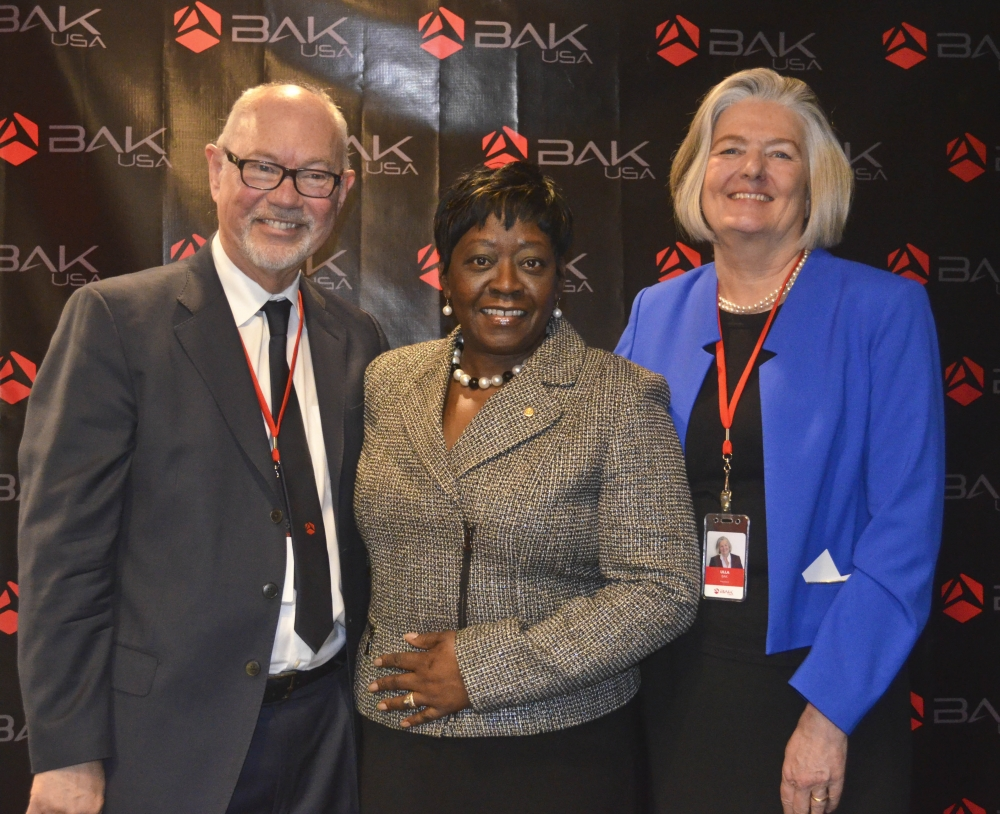 January 15, 2015 – Assemblywoman Crystal Peoples-Stokes at the ribbon cutting ceremony for BAK USA. BAK USA is one of the first companies in the world to produce own-branded electronic tablets outside of Asia.