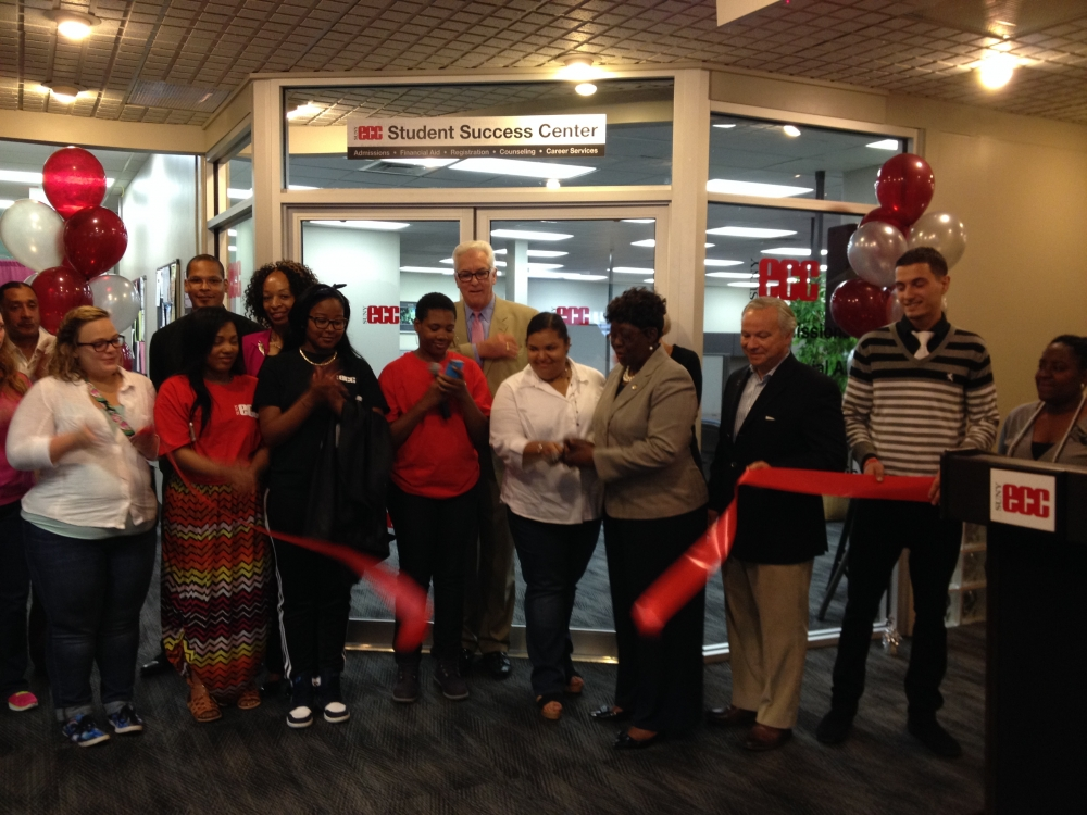 June 12, 2015 - Assemblywoman Peoples-Stokes attends a ribbon cutting ceremony to open the new Erie Community College City Campus Student Success Center. Located at 45 Oak Street the Center will strea