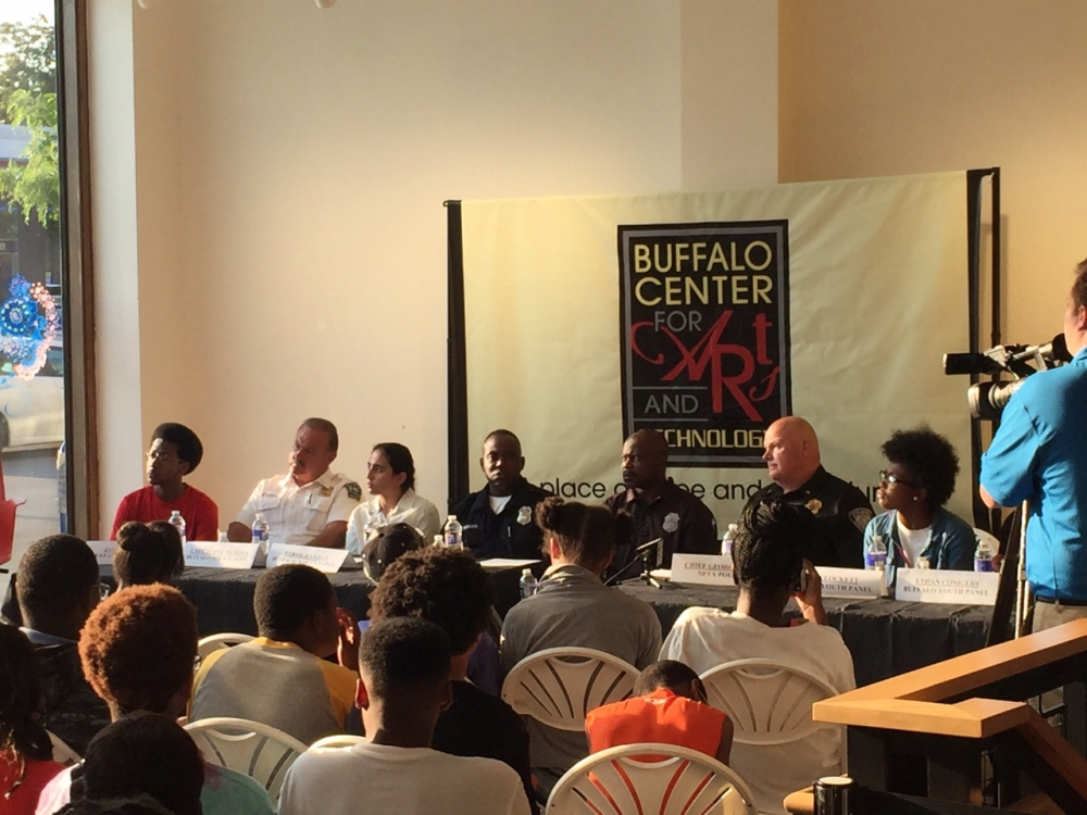 August 10, 2016 – Assemblywoman Peoples-Stokes and the Buffalo Center for Arts and Technology hosted a youth panel focused on Race, Buffalo, Policing, and Community. The Youth Panel consisted of five