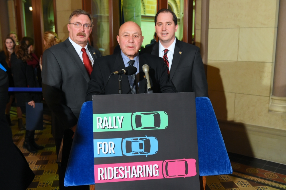 Pushing for ridesharing in Upstate & Long Island.