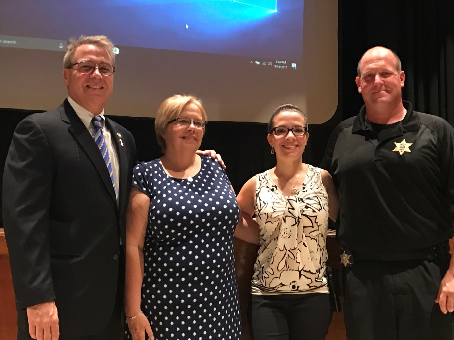 Pictured from left to right are Assemblyman David DiPietro (R,C-East Aurora), Cindy Anton, Jessica Hutchens from Kids' Escaping Drugs and Deputy Aaron Naegely stand united at an Opioid Forum at t