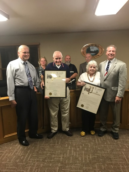 Pictured above: Rickey Vendetti, Supervisor, Edmund 'Bud' Bogucki, an honoree, Dee Zeigel, an honoree, Assemblyman David DiPietro (R,C-East Aurora), and the Wales Town Board