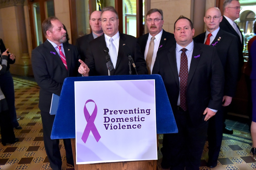 Assemblyman David DiPietro (R,C,I-East Aurora) at the Assembly Minority Task Force on Preventing Domestic Violence on Tuesday, January 23, 2018.