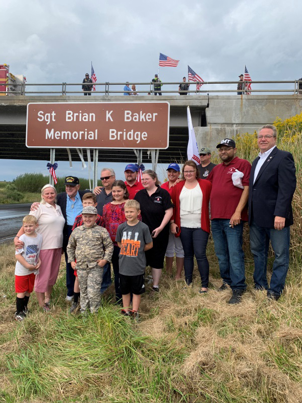 Assemblyman David DiPietro (R,C,I-East Aurora) at the ceremony to declare the Sgt. Brian K. Baker Memorial Bridge on Sunday, September 15.