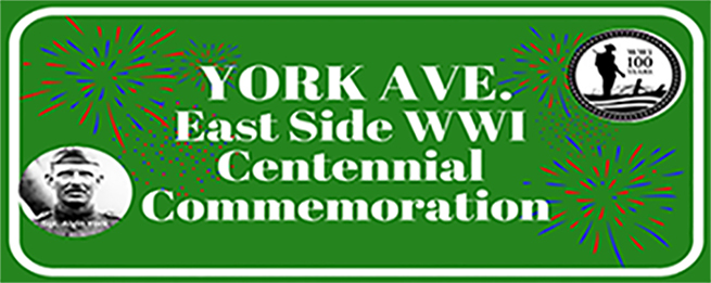 York Avenue East Side WW1 Centennial Commemoration