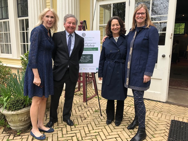 From left to right: Suzanne Clary, Executive Director of Jay Heritage Center, Assemblyman Otis, Mamaroneck Town Supervisor Nancy Seligson and Executive Director of Save the Sound, Tracy Brown.