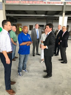 Pictured in the second photo at the site of the new Boys & Girls Club in Schenectady is (foreground from left to right): Assemblymember Angelo Santabarbara and Boys & Girls Club of Schenectady Executive Director Shane Bargy.