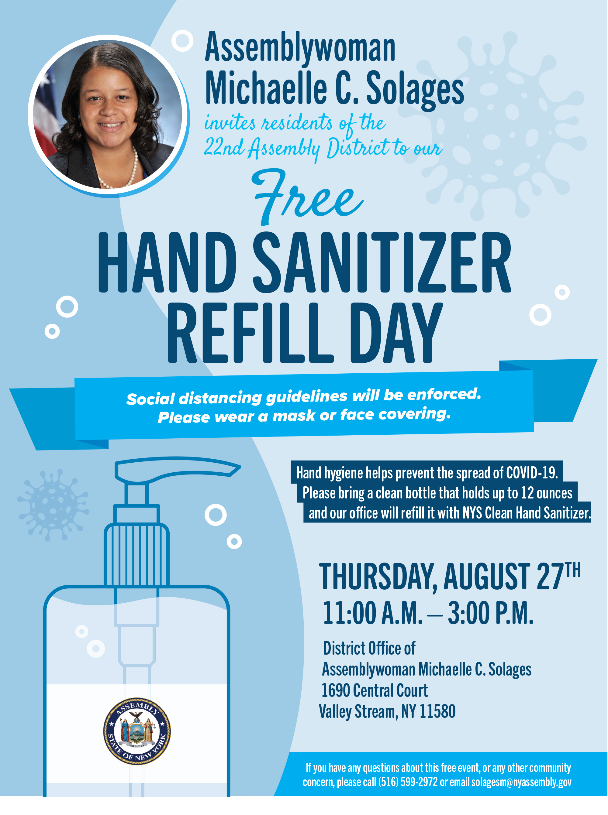 Free Hand Sanitizer Refill Day